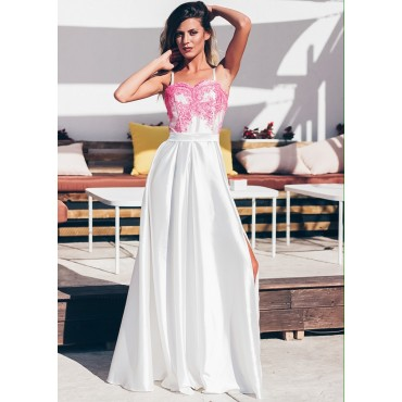 Queen Of Hearts Maxi Dress (White)
